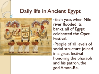 Ancient Egypt The Life of a Peasant