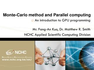 Monte- C arlo method and Parallel computing