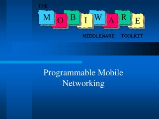 Programmable Mobile Networking