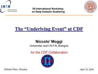 "The ""Underlying Event"" at CDF"