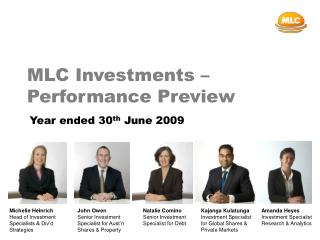 MLC Investments – Performance Preview