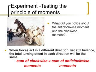 Experiment -Testing the principle of moments
