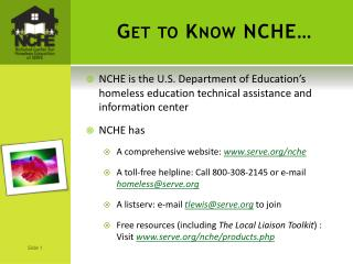 Get to Know NCHE…