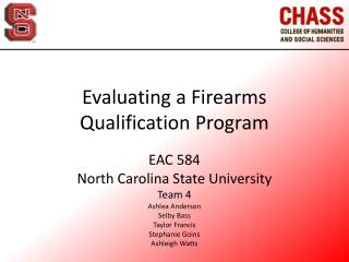 Evaluating a Firearms Qualification Program
