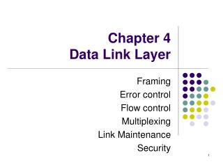 Chapter 4  Data Link Layer