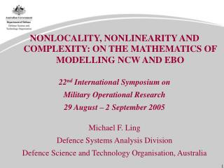 NONLOCALITY, NONLINEARITY AND COMPLEXITY: ON THE MATHEMATICS OF MODELLING NCW AND EBO