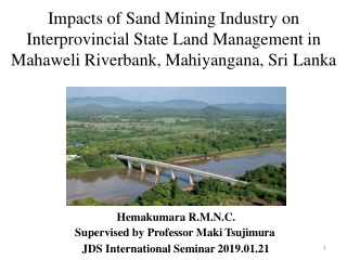 Impacts of Gravel Mining on Water Resources: