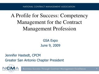A Profile for Success: Competency Management for the Contract Management Profession