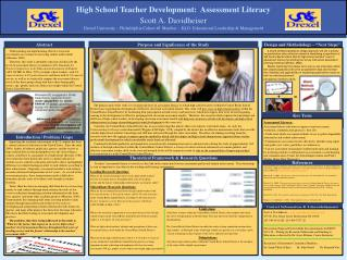 High School Teacher Development:  Assessment Literacy