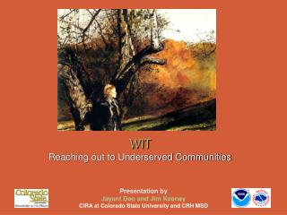 WIT Reaching out to Underserved Communities