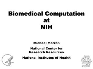 Biomedical Computation at  NIH