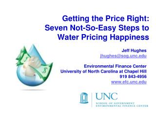Getting the Price Right: Seven Not-So-Easy Steps to  Water Pricing Happiness