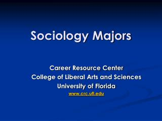 Sociology Majors