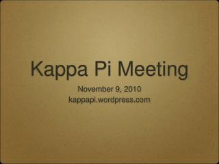 Kappa Pi Meeting