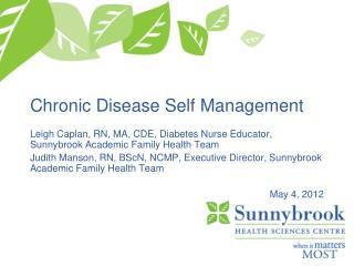 Chronic Disease Self Management