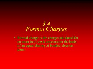 3.4 Formal Charges