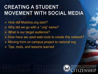 Creating A Student Movement with Social Media