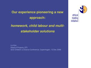 Our experience pioneering a new approach: homework, child labour and multi-stakeholder solutions