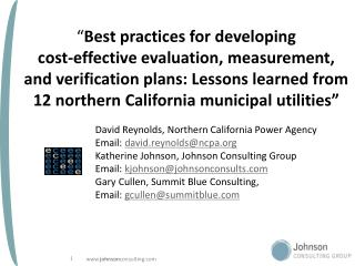 David Reynolds, Northern California Power Agency    Email:  david.reynolds@ncpa