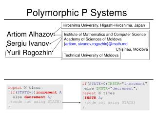 Polymorphic P Systems