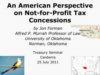 An American Perspective on Not-for-Profit Tax Concessions