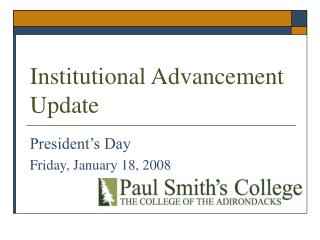 Institutional Advancement Update