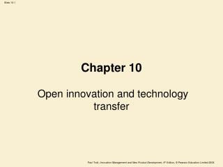 Chapter 10 Open innovation and technology transfer