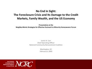 Massive Foreclosures: Epicenter of the Economic Crisis