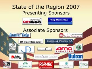 State of the Region 2007 Presenting Sponsors