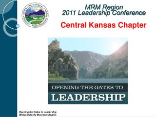 MRM Region  2011 Leadership Conference Central Kansas Chapter