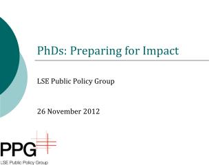 PhDs: Preparing for Impact