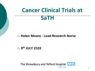 Cancer Clinical Trials at SaTH