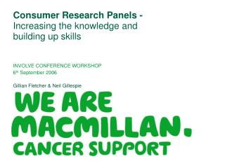 Consumer Research Panels - Increasing the knowledge and building up skills