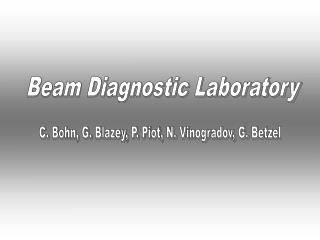 Beam Diagnostic Laboratory