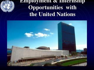 Employment & Internship Opportunities  with  the United Nations