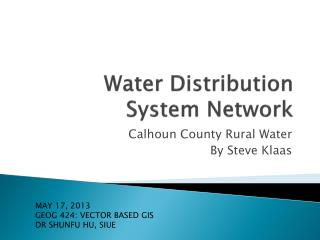 Water Distribution System Network
