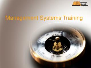 Management Systems Training