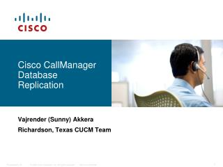 Cisco CallManager Database Replication