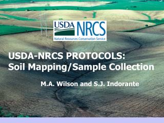 USDA-NRCS PROTOCOLS:  Soil Mapping/Sample Collection