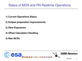Status of MOS and PN Realtime Operations