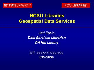 NCSU Libraries Geospatial Data Services