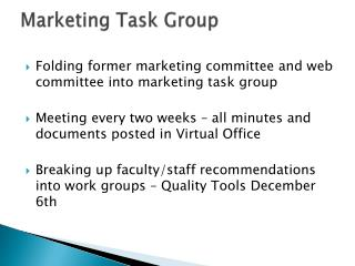 Marketing Task Group