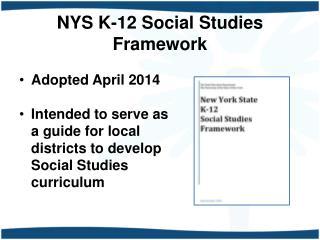 NYS K-12 Social Studies Framework