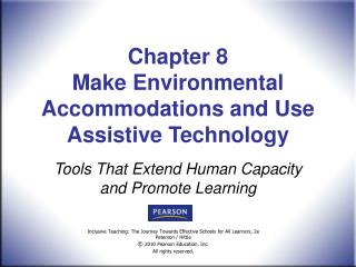 Chapter 8  Make Environmental Accommodations and Use Assistive Technology