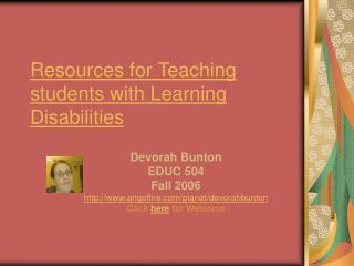 Resources for Teaching students with Learning Disabilities