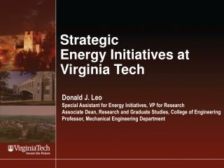 Strategic Energy Initiatives at Virginia Tech