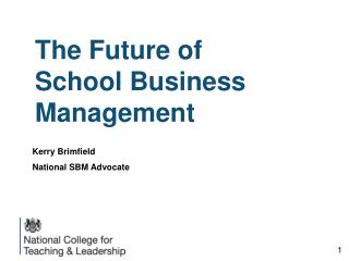The Future of School Business Management