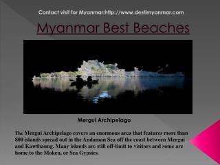 best beaches in Myanmar