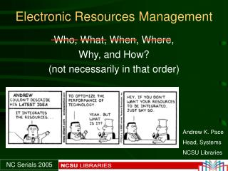 Electronic Resources Management