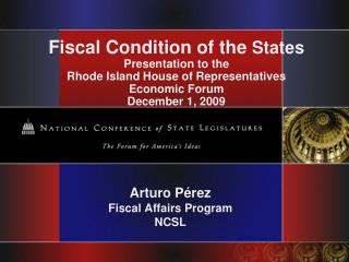 Arturo Pérez Fiscal Affairs Program  NCSL